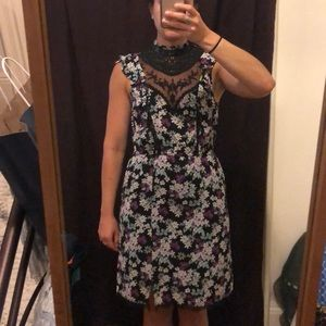 Express Dresses - Express floral dress with lace size Small